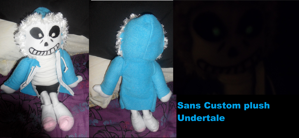Undertale Sans custom Plush by AshleyFluttershy
