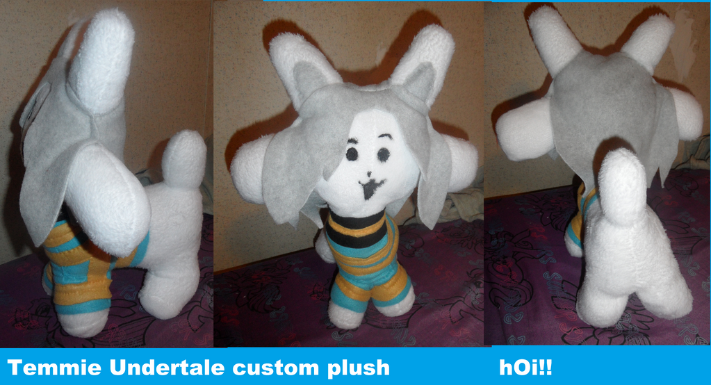 Undertale Temmie custom plush hOi by AshleyFluttershy