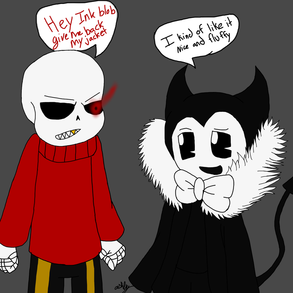 Fluff Bendy With Fell Sans By AshleyFluttershy On DeviantArt
