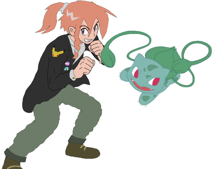 Trainer and Pokemon by Shea2468