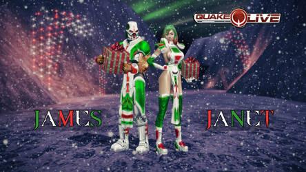 Sport Xmas James and Janet by quake-goddess