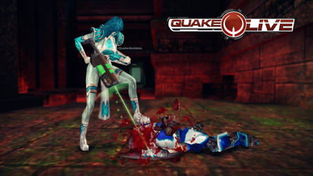 Railgun Double Tap (blue) by quake-goddess