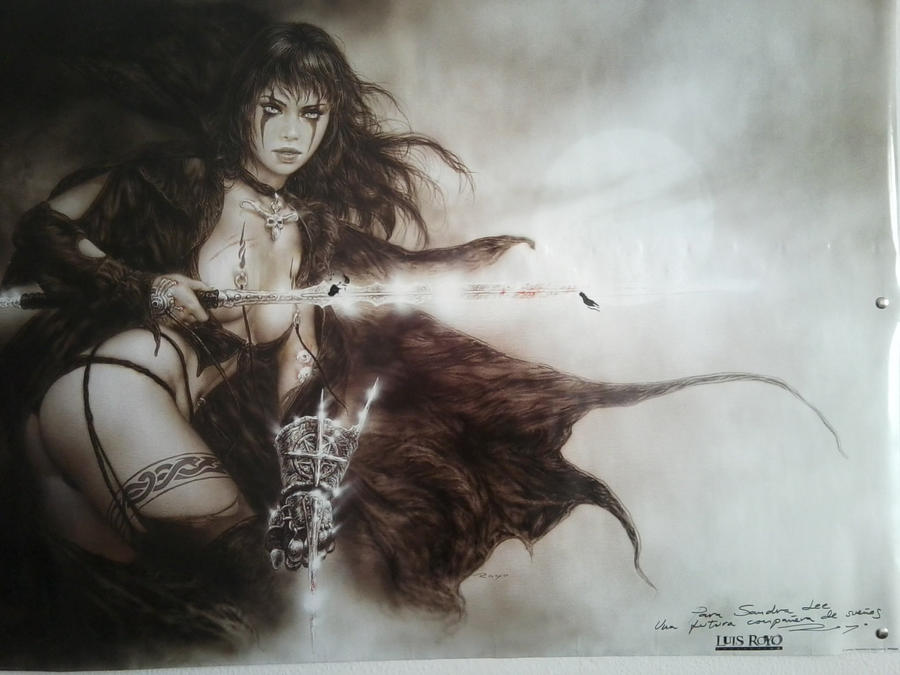 Luis Royo Poster dedicated by SandraLeeShadows