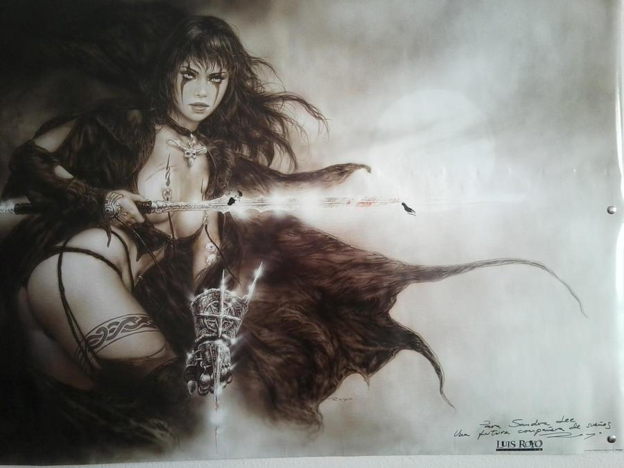 Luis Royo Poster dedicated by SandraLeeShadows