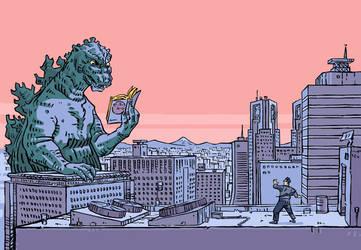 Godzilla by olivier2046