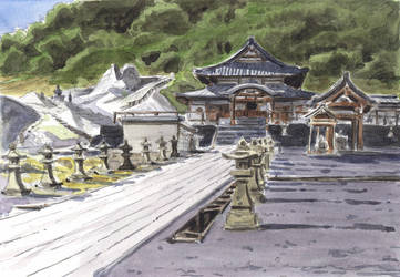Osorezan 01 - Main Shrine by olivier2046