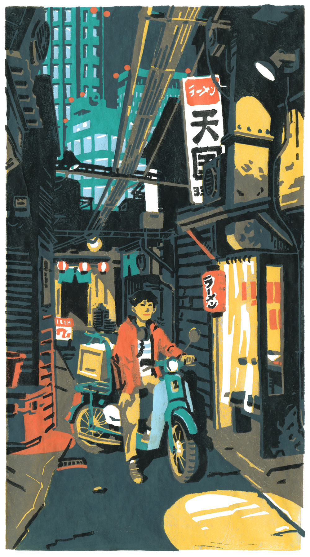Ramen Delivery Boy by olivier2046