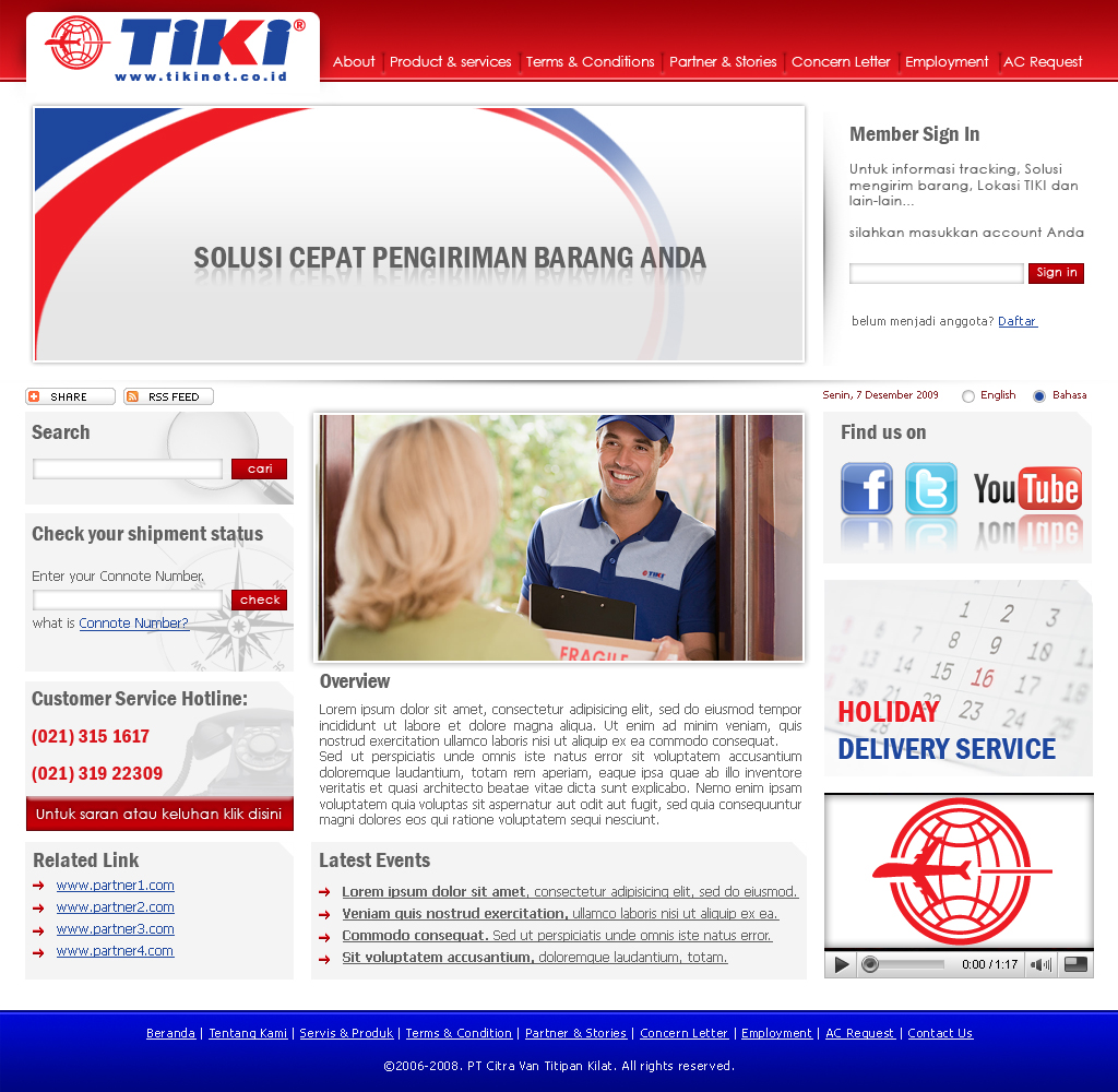 web design for tiki by haryosoriyadhi on deviantart