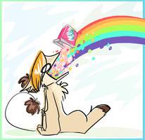 Tastin' the Rainbow. by floppyneko