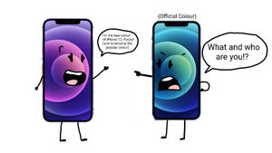 iPhone 12 Blue and Purple