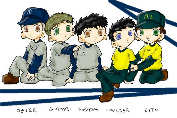 Baseball Chibis by Chinroku-sama