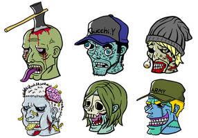 Zombie Faces by tomohiko-sato