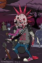 Rock zombie. by tomohiko-sato