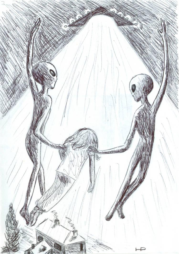 Abduction Scenario 1 (Copyright Hilary Porter) by MyAlienAbductionArt