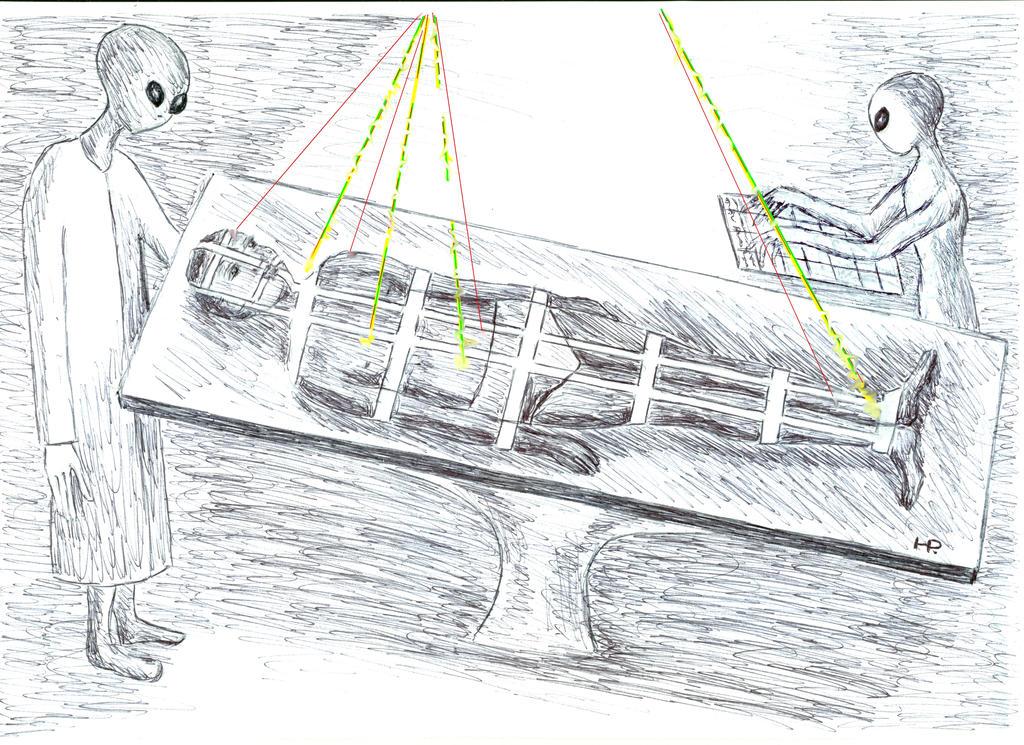 Abduction Table Scenario 1 by MyAlienAbductionArt