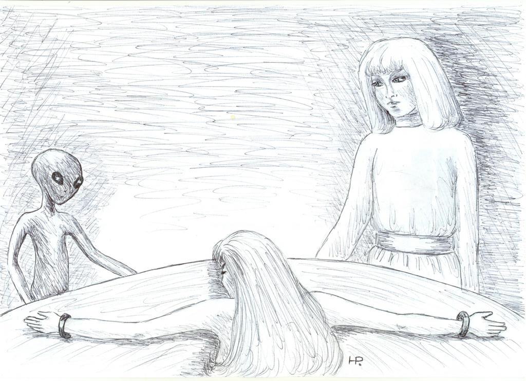 Abduction Table Scenario 2 by MyAlienAbductionArt