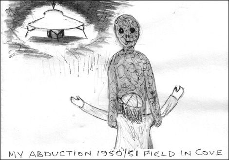 Abduction Figure 1950/1  (Copyright H.Porter) by MyAlienAbductionArt