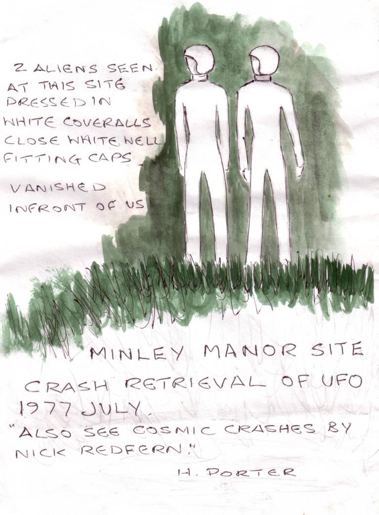 Beings Minley Manor - July 1977 by MyAlienAbductionArt