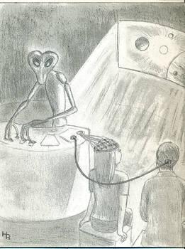 Insectoid/Mantis-Type Alien (Copyright H. Porter)