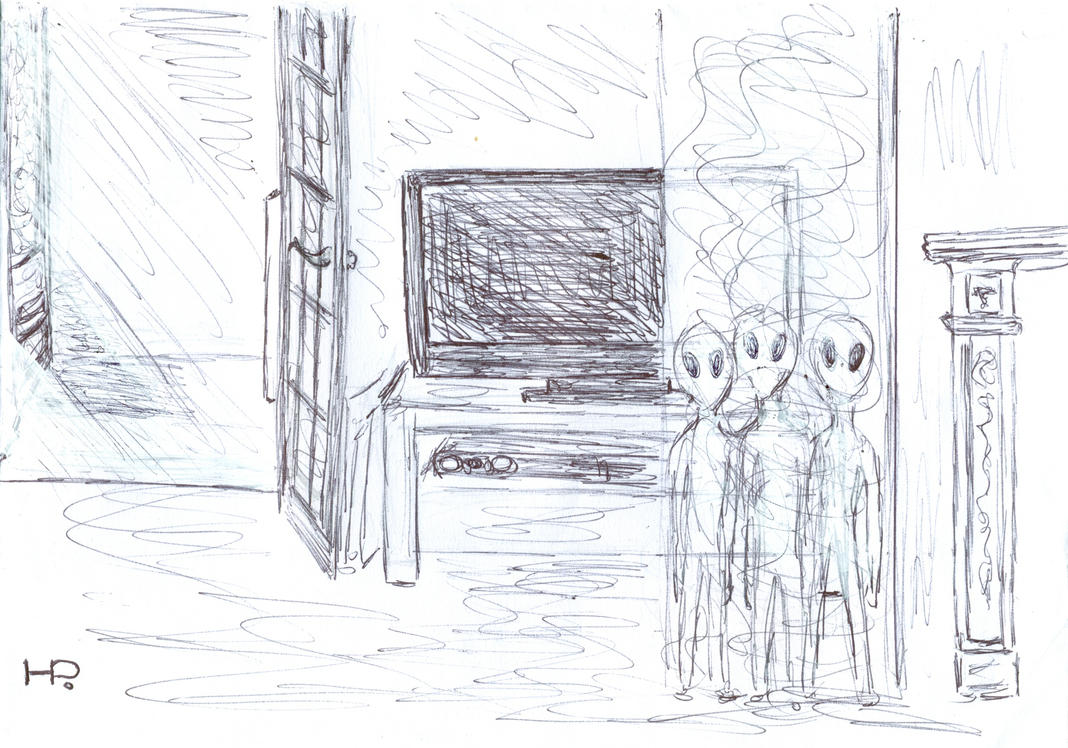 August 2016 Abduction Sketch by MyAlienAbductionArt