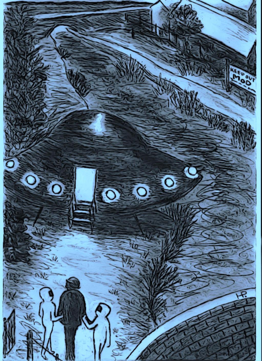 Alfred Burtoo's Encounter in Aldershot, Hants 1983 by MyAlienAbductionArt