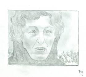 Jessie Rosenberg UFO Alien Witness Pencil Drawing