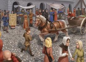 Medieval market by K-Bladin