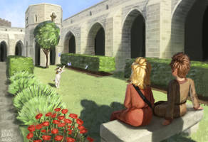 Saint Bavo's monastery garden by K-Bladin