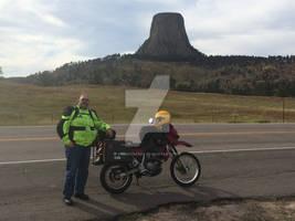 Devils Tower, KLR650, and me - Black Hills 2015