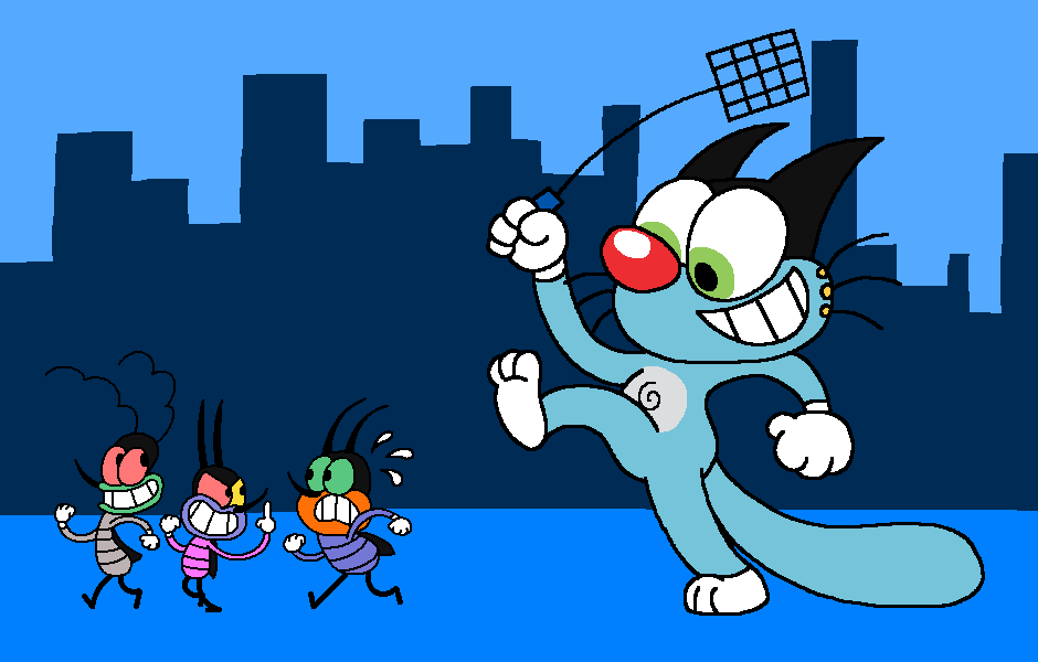 oggy and the cockroaches by en0phan0 on deviantart