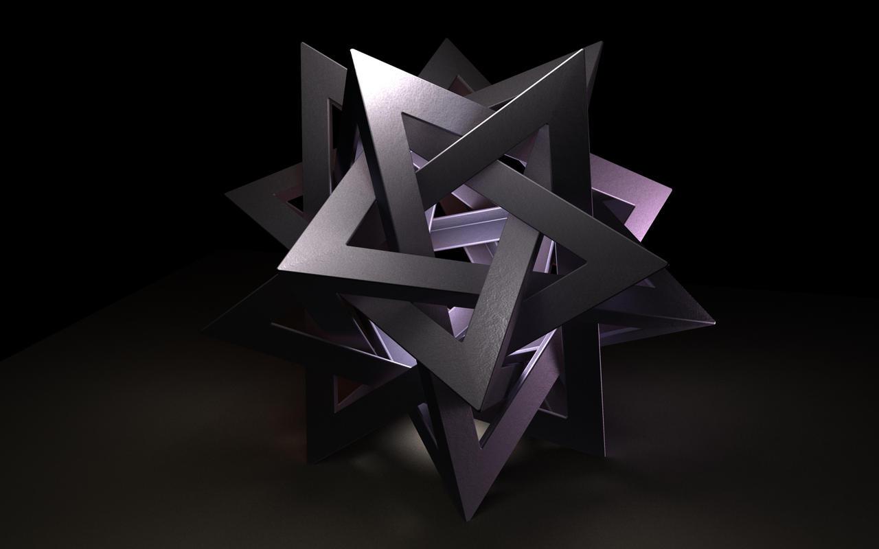 3d origami sculpture by mathin3d on deviantart. Black Bedroom Furniture Sets. Home Design Ideas