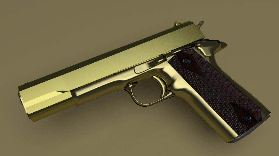Golden M1911 By Irstorman On Deviantart
