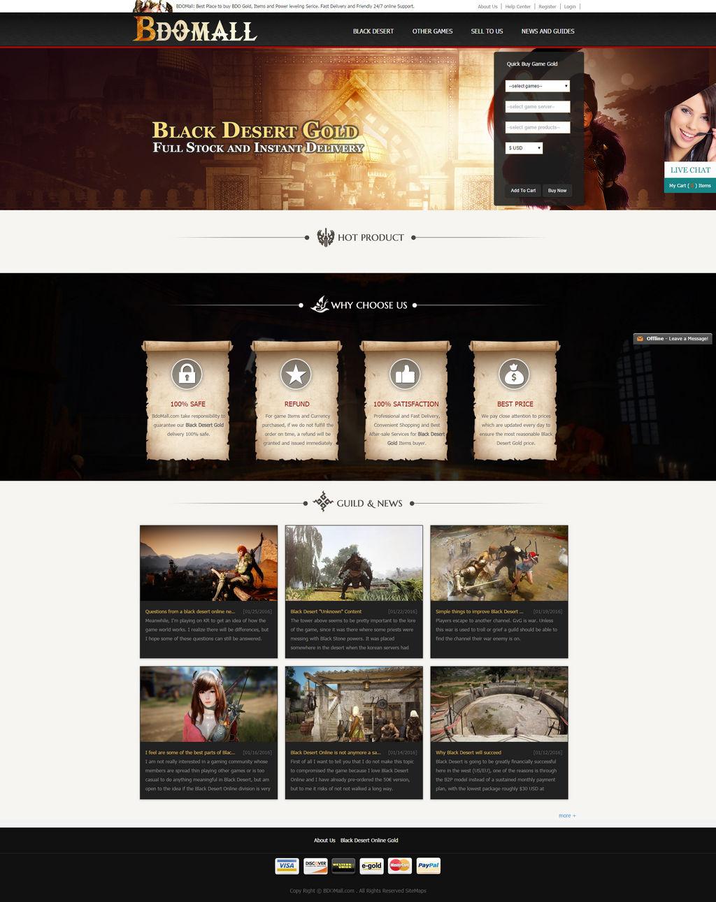 BDOMall Best Place To Buy Black Desert Gold, BDO by bdomall
