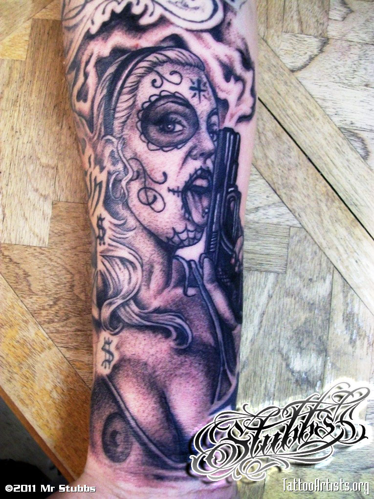 day of the dead tattoo by MISTERSTUBBS