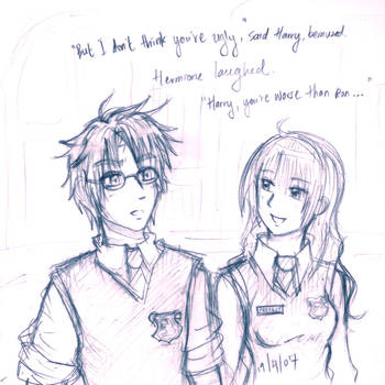 Harry + Hermione by game-flu