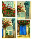 Blue door. Details
