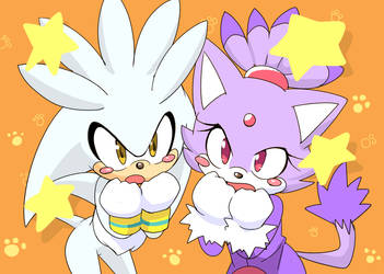 Blaze-Nyan And Silver by inano2009