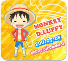 OP: HappyBirthday Luffy san by inano2009