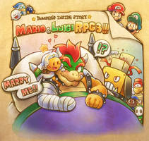 MarioAndLuigiRPG3:BowserAndChippy by inano2009