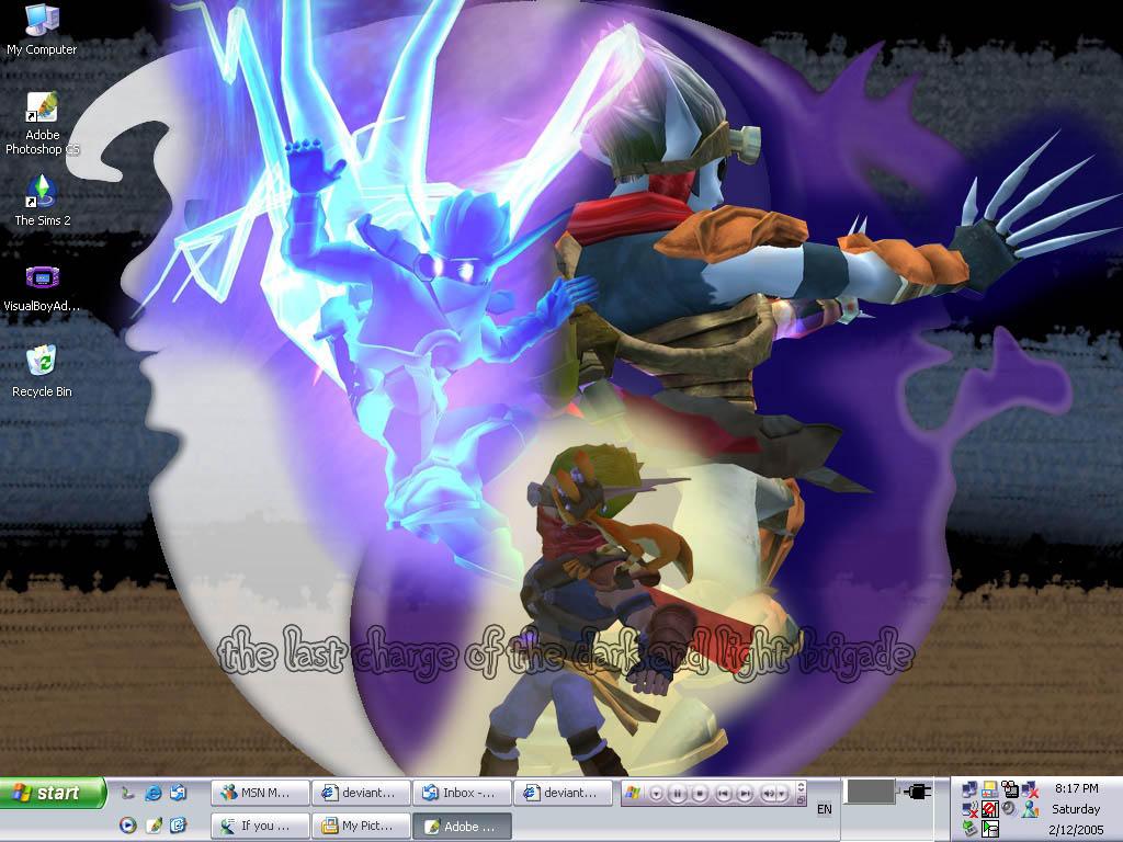 My Desktop Light And Dark Jak By Jezcardia