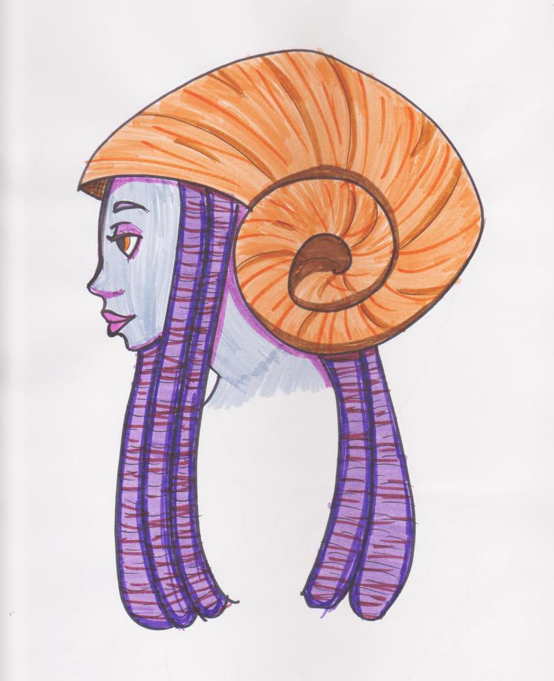 seashell hat by DahliaFay