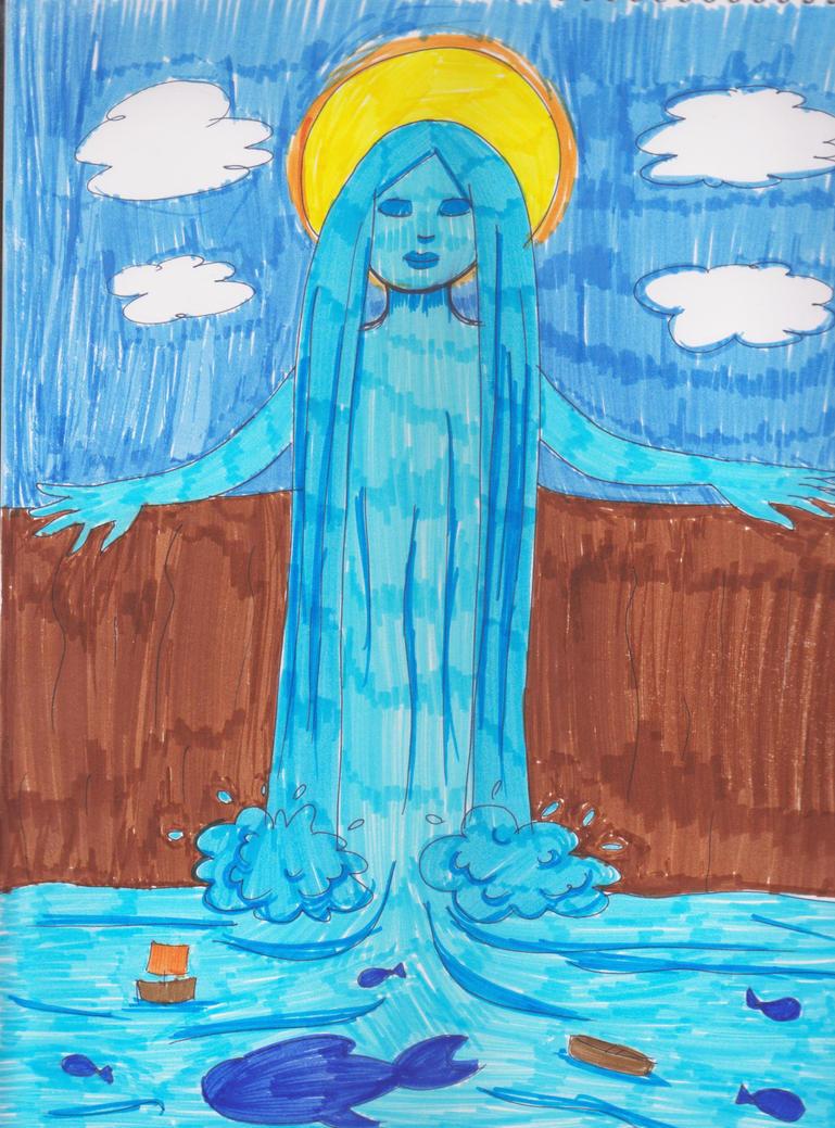 Waterfall lady by DahliaFay