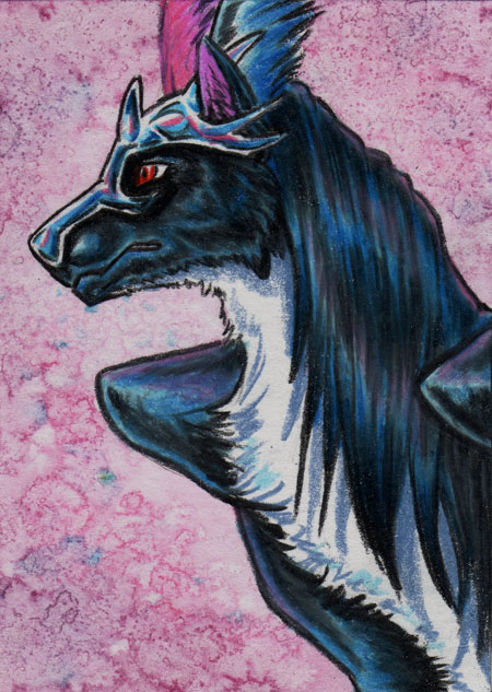 ACEO -Mistress of Air- by CrescentMoon