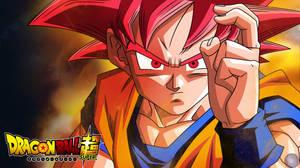 DBS - Goku SSJ God - Wallpaper by ShikoMT