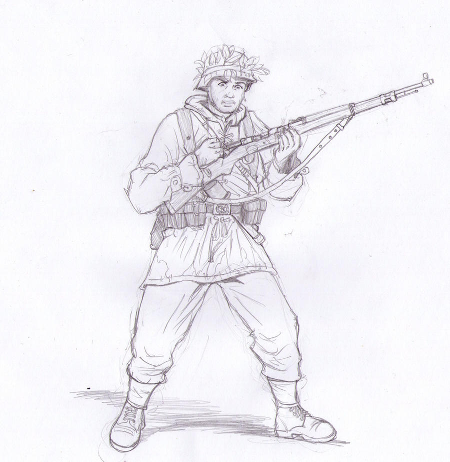 Wehrmacht soldier Bolt action by Bidass
