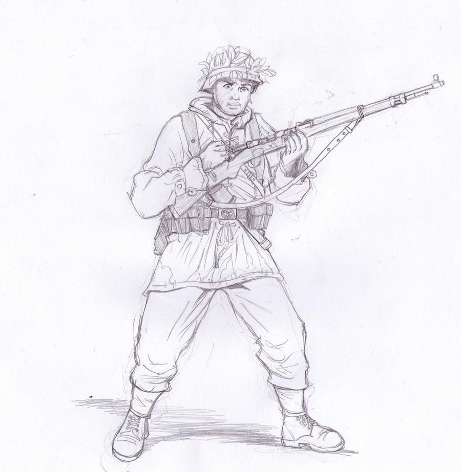 Wehrmacht soldier Bolt action by Bidass