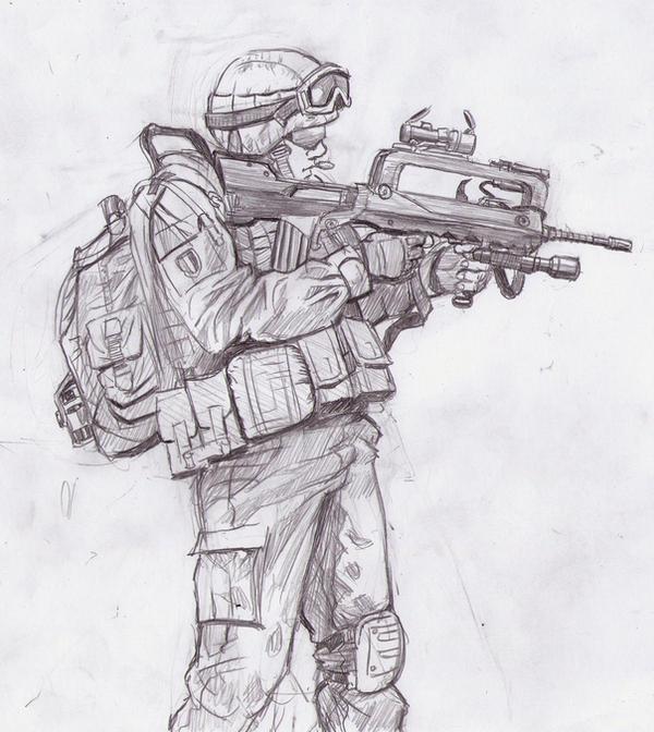 French soldier by Bidass