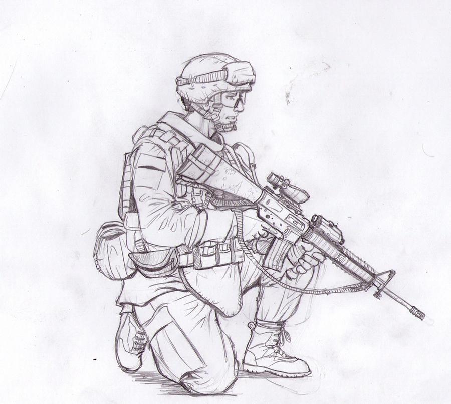 US Marine M16A4 Acog by Bidass