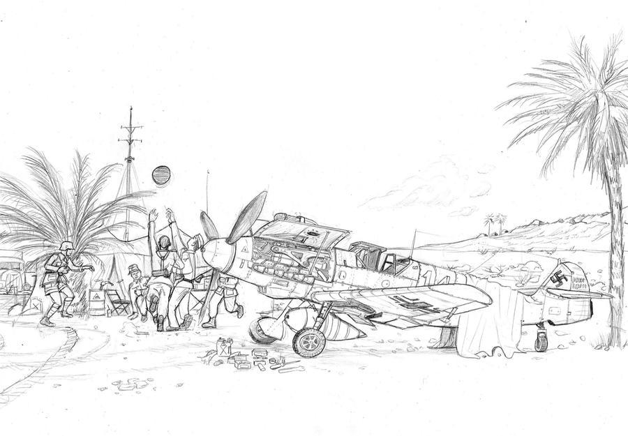Luftwaffe in africa by Bidass