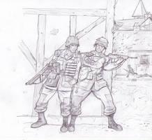 US soldiers by Bidass